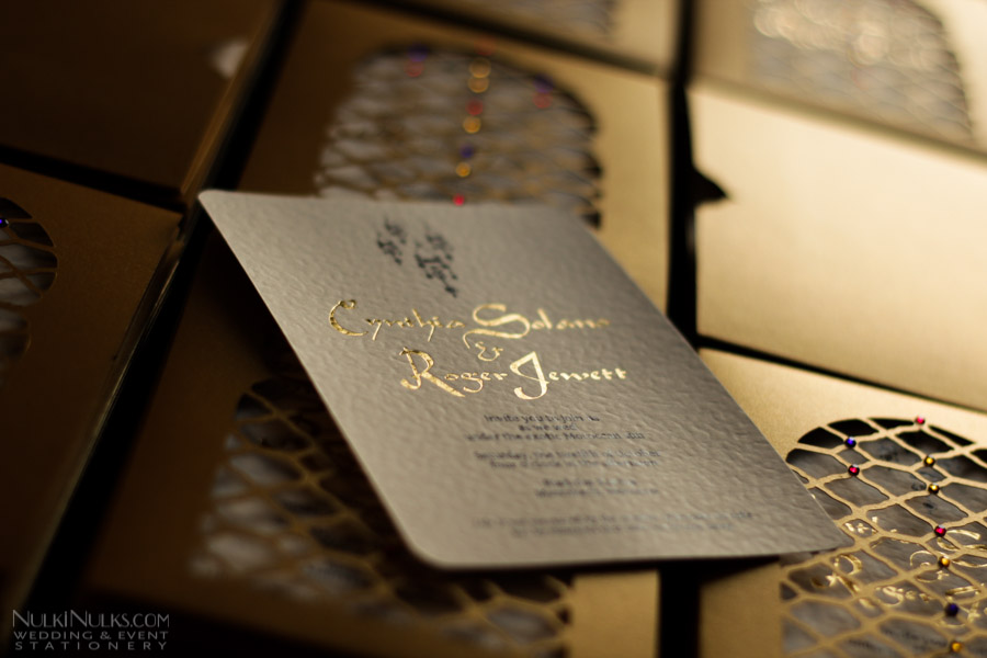 Moroccan Wedding Invitations and Save the Date Cards  Real Weddings Stationery by Nulki Nulks