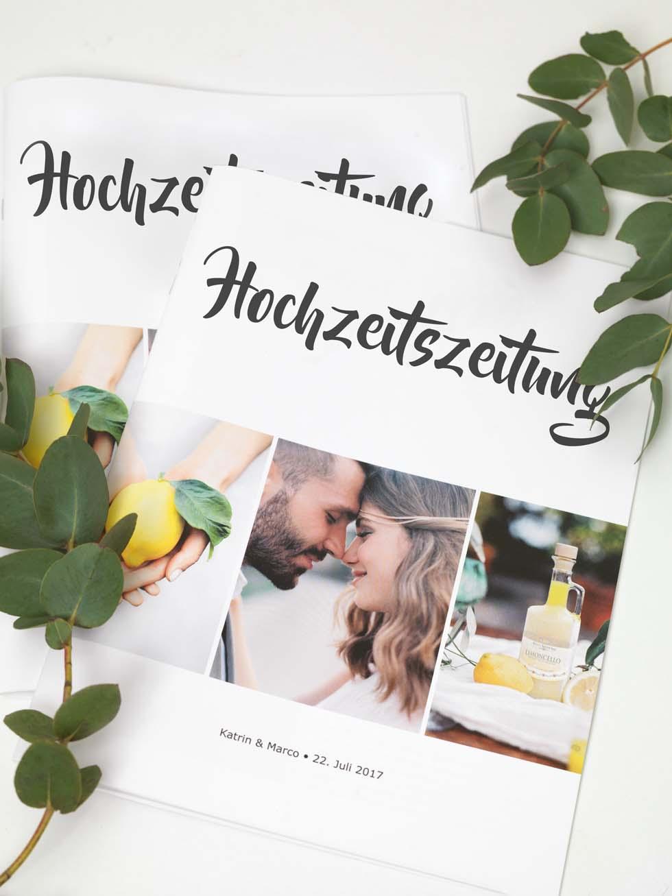 Die Hochzeitsdrucker  Eure Hochzeitszeitung
