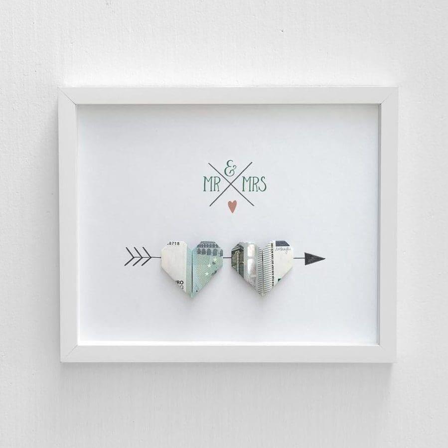 Anleitung Herz aus Geld falten  ein tolles Geldgeschenk
