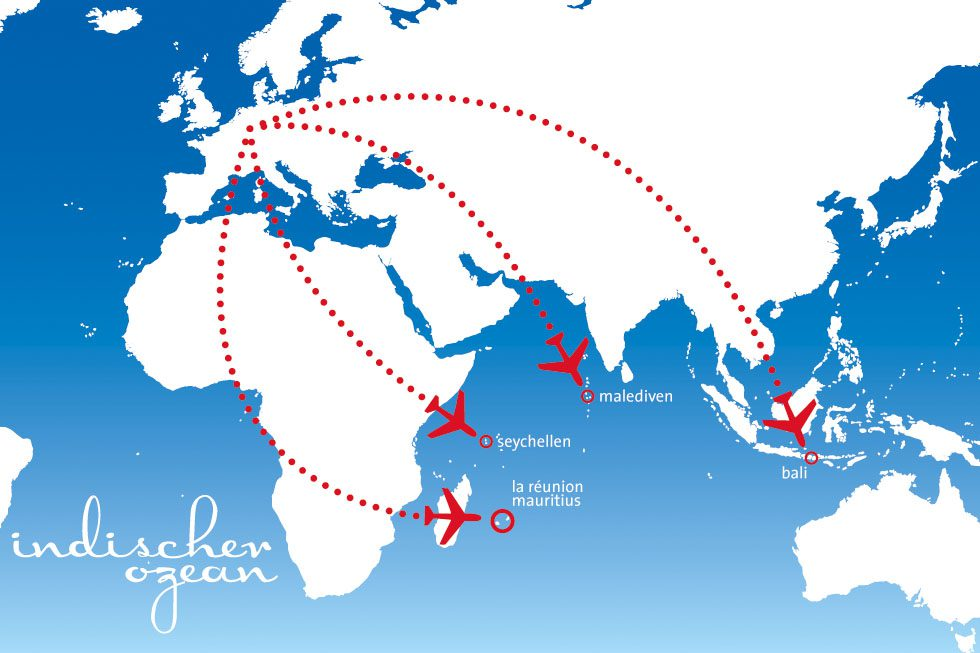 Flitterwochen im indischen Ozean