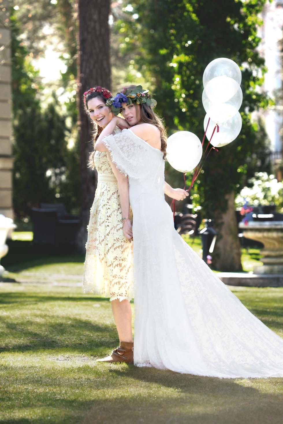 Looks fr die Boho Hochzeit Stylingideen Braut