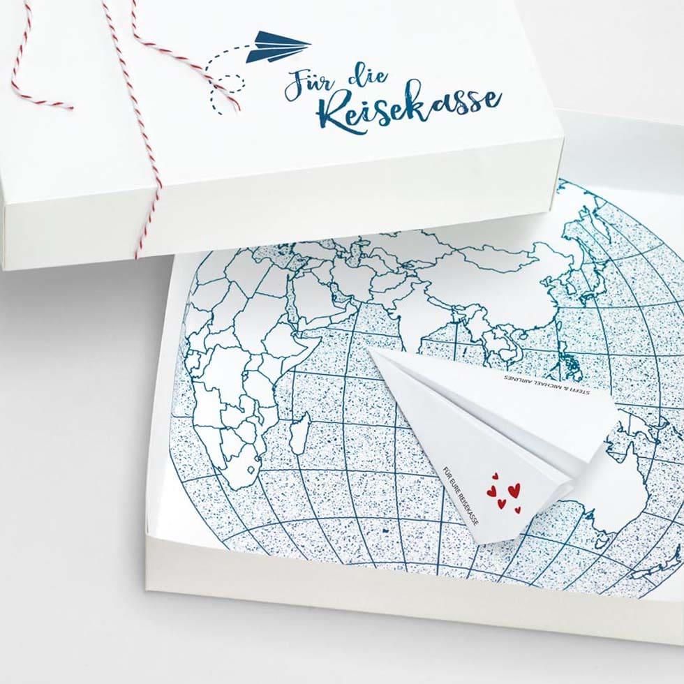 GeldgeschenkVerpackung Fr die Reisekasse