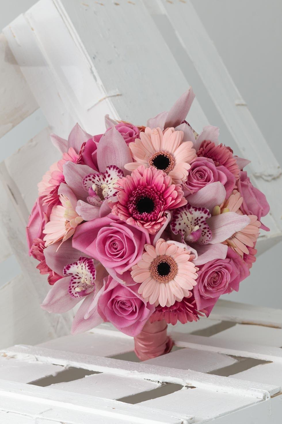 Brautstrau Rosa und Pink