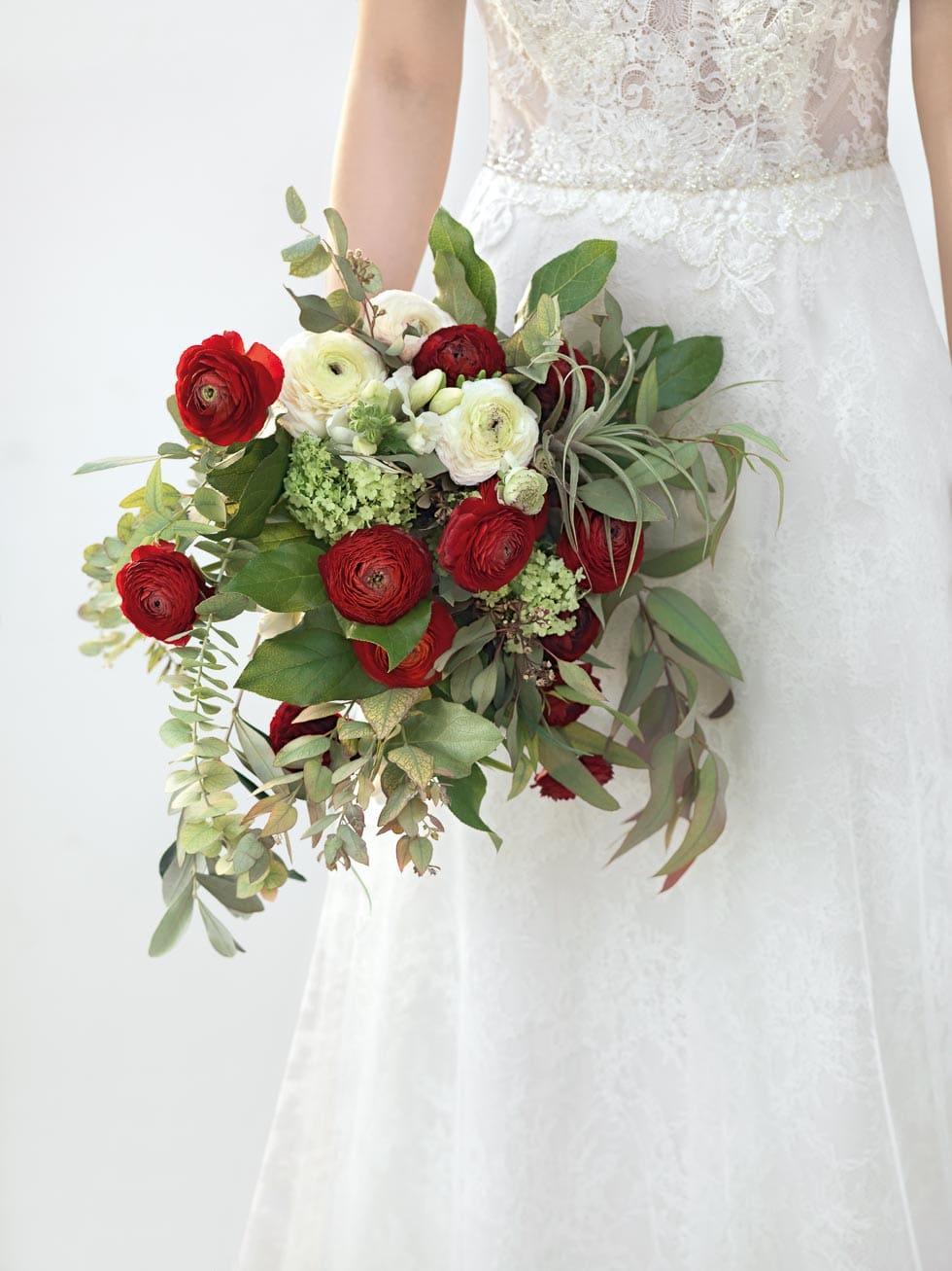 Hochzeitsstrauss Rot Weiss