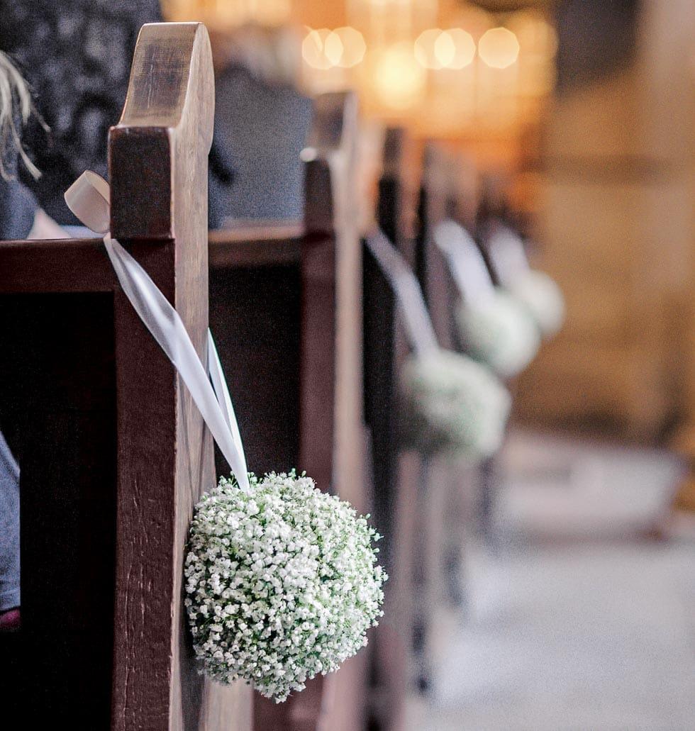 Hochzeitsdekoration Kirche  Hochzeit