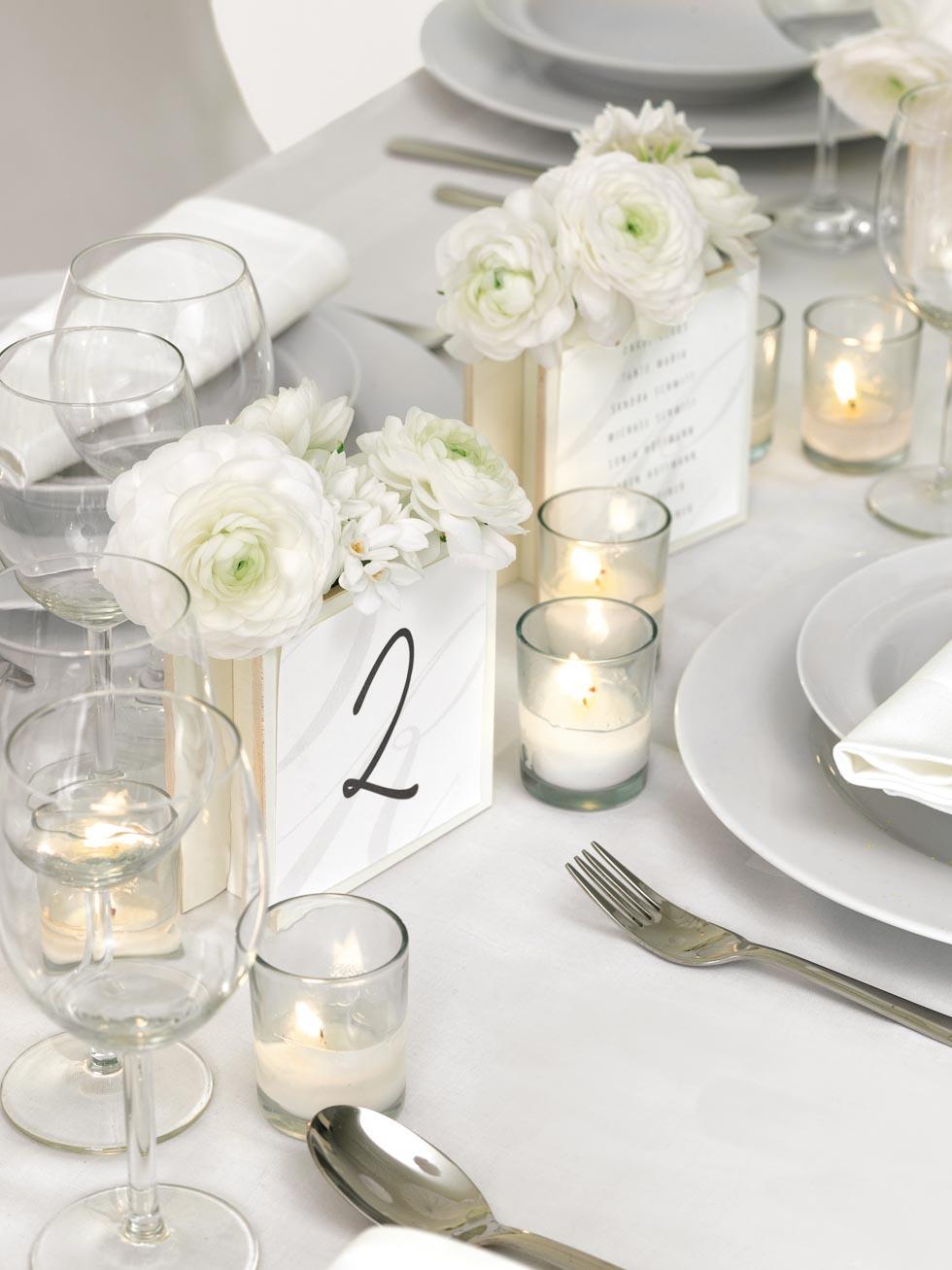 Tischnummer fr die Hochzeit  81 Beispiele  Inspirationen