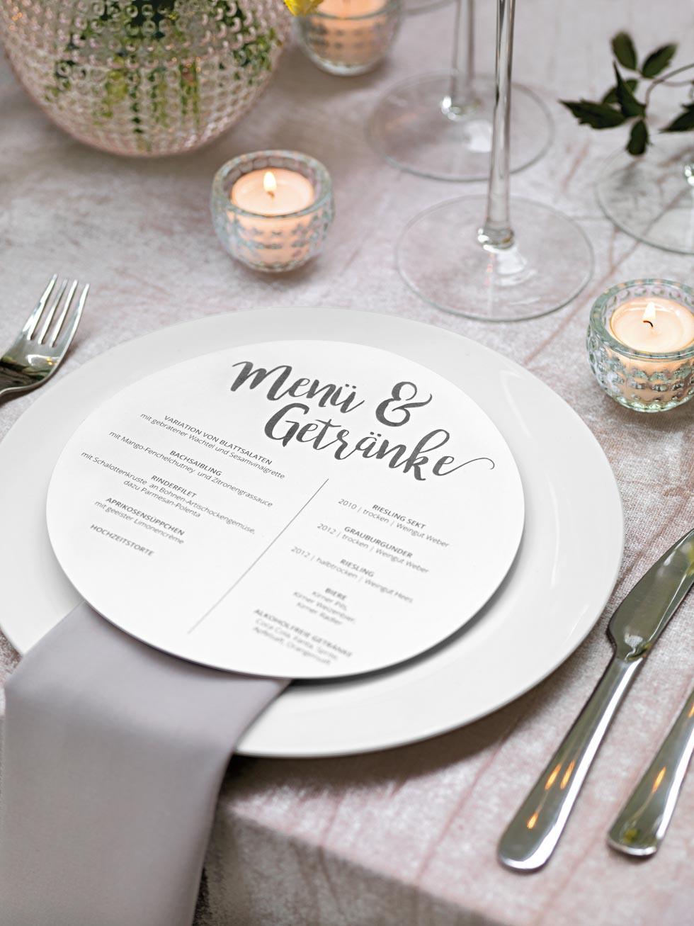 Menkarten fr die Hochzeit  87 traumhafte Beispiele  Ideen