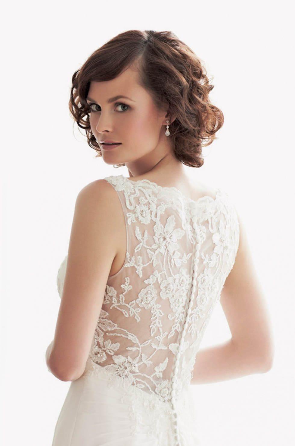 Galerie 26 Brautfrisuren fr kurzes oder schulterlanges Haar