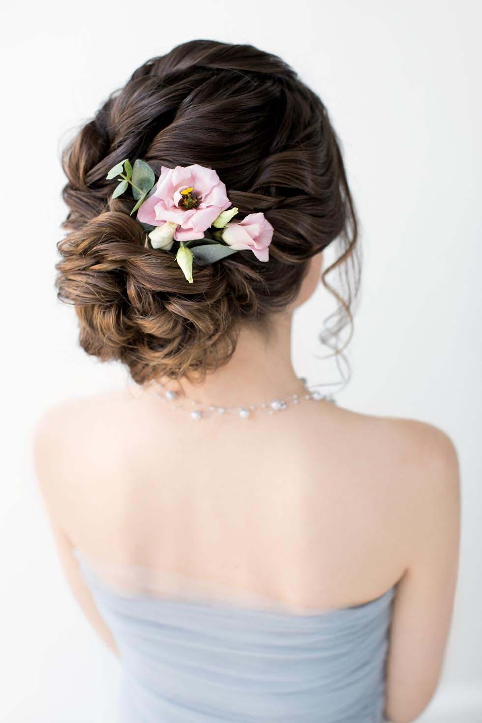 Brautfrisur Anleitung lockere Hochsteckfrisur