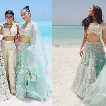 Shraddha Kapoor looks breathtaking in Maldives at cousin Priyaank Sharma's wedding