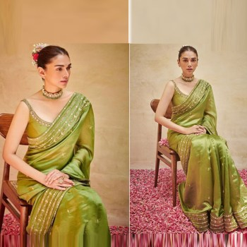Dulhe Ki Saaliyon… Sashay this green saree look at your bestie's wedding!