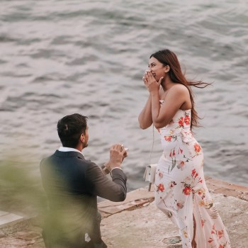 Footballer Gurpreet Singh Sandhu popped the question to his girlfriend Devenish Singh in a stunning proposal by Darling Harbour in Sydney