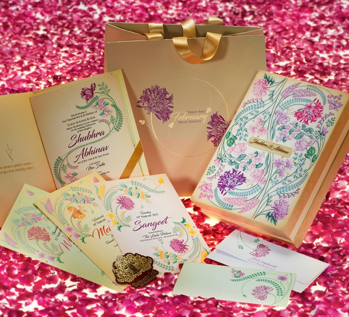 Bright And Beautiful Wedding Invitations For Your Big Day
