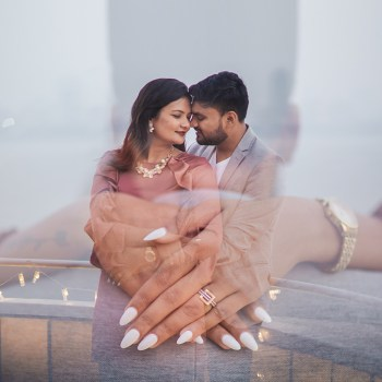 Set against Mumbai's skyline with a golden sunset, this yacht wedding proposal was the perfect embodiment of a modern fairytale!