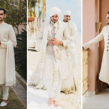 Real Grooms who picked neutral outfits for their Indian wedding