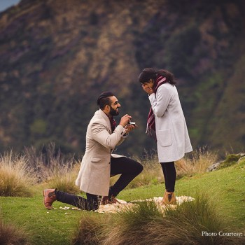 From a helicopter ride to a heart made of rose petals, this proposal in New Zealand raised the bar in many ways