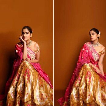 Sai Tamhankar shows us how Bridesmaids can rock the Benarasi look!
