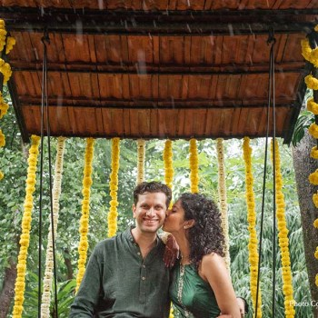 This magical monsoon wedding at an organic farm was high on sustainability