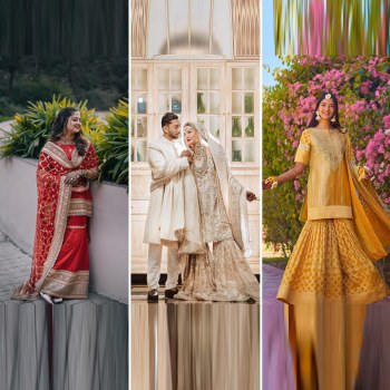 10+ real brides who stole the show in shararas and gharara sets
