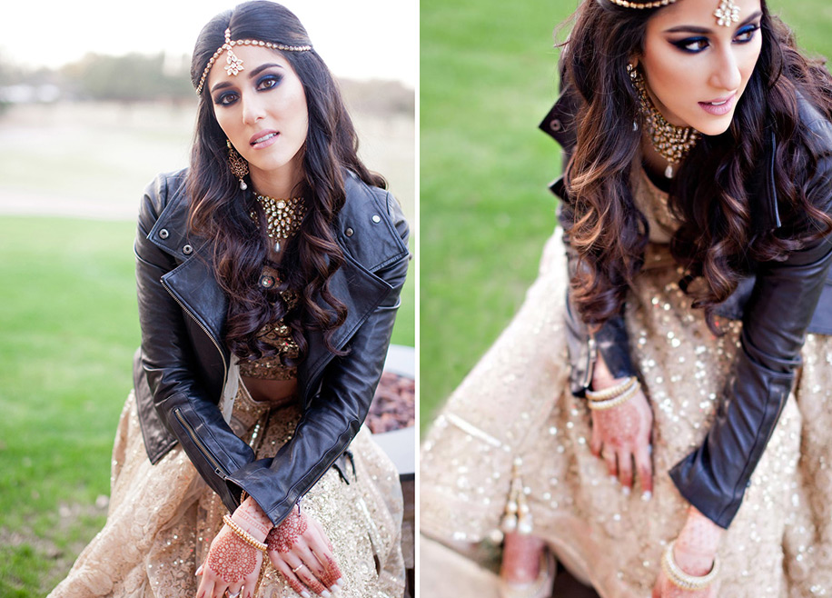 5 ways to incorporate a leather jacket in your bridal look
