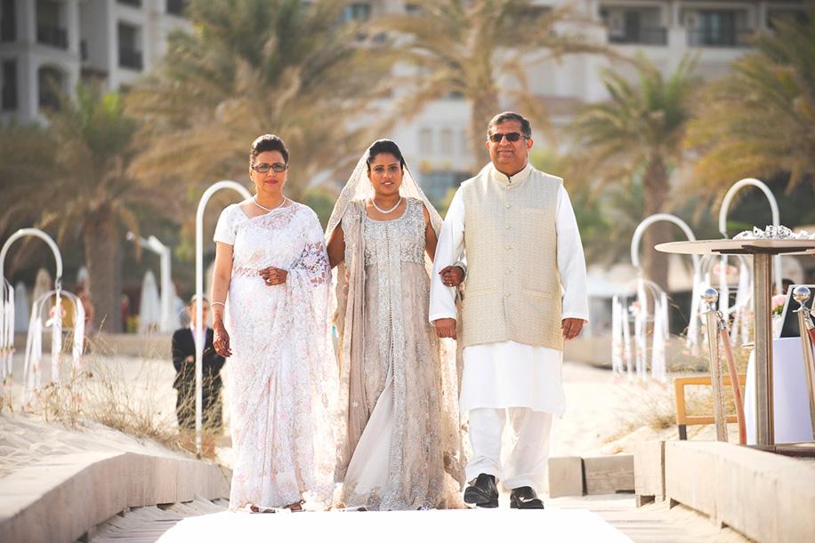 Salimah and Riaz, St Regis Saadiyat Island Resort, Abu Dhabi