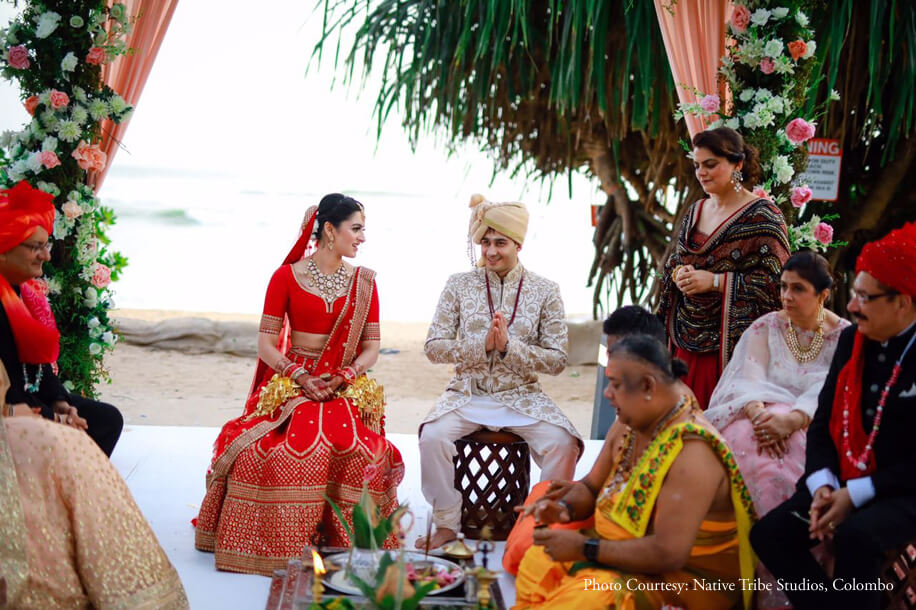 Archita and Sarthak - Weligama, Sri Lanka, Wedding function