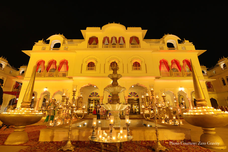 Shreya and Rahul, The JaiBagh Palace, Jaipur