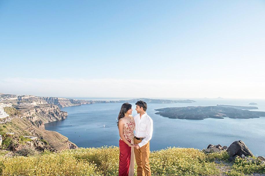 Renu and Vishesh, Santorini, Greece