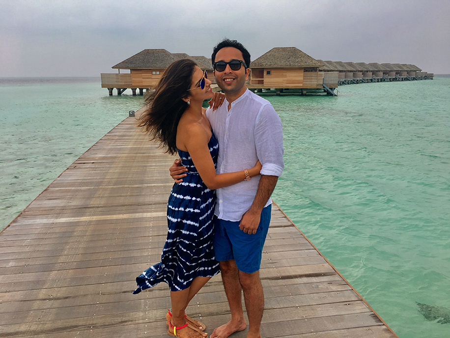 Rutika and Neeraj, Maldives and Italy