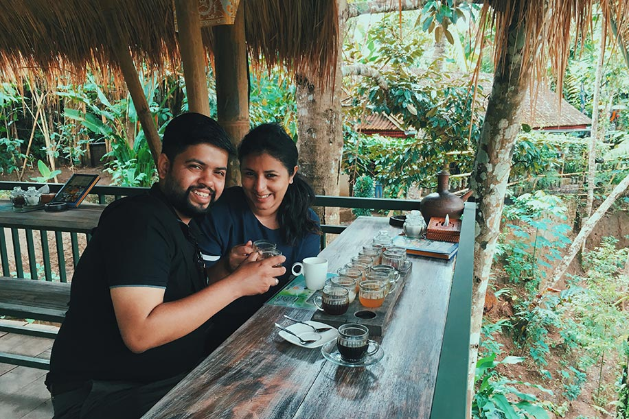 Shreya Sen and Saurish Basu, Bali