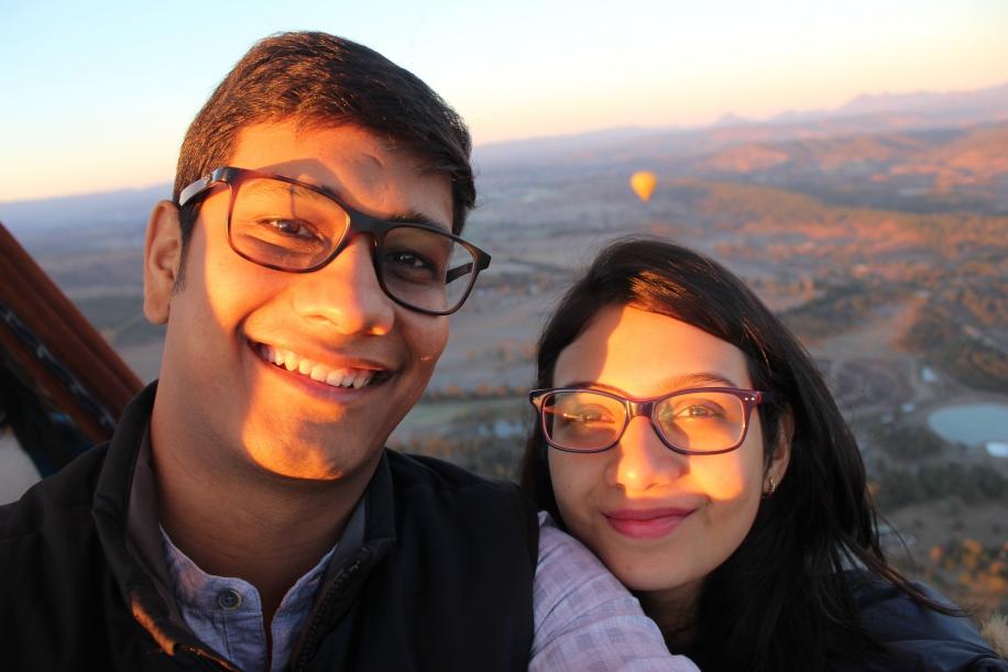 Shubhangi and Prateek, Australia
