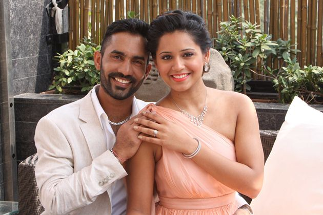 Dinesh Karthik and Dipika Pallikal choose to celebrate with everlasting platinum love bands