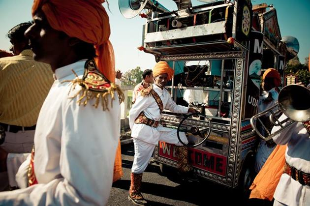 Wedding procession in Rajasthan