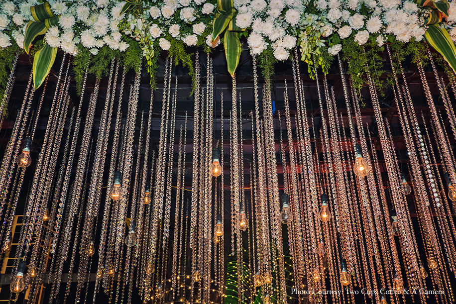 A 'Cherry Blossom' themed reception was a highlight of this elegant wedding in Mumbai