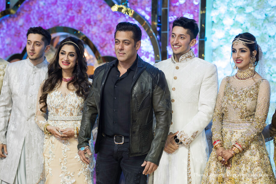 Bollywood stars up the glamor quotient of glittering Morani-Seth reception