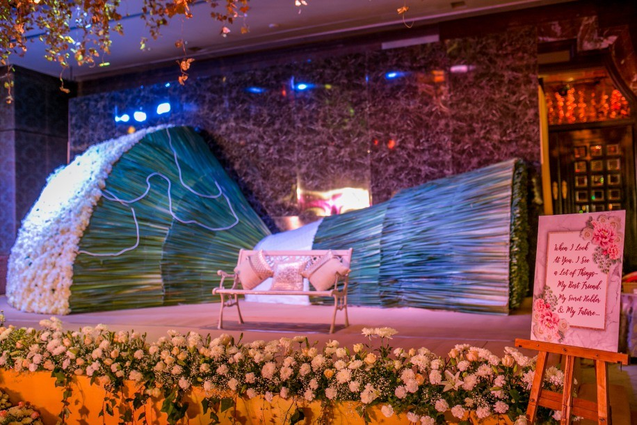 Enchanted Garden Theme Engagement Ceremony Planned by A-Cube Project
