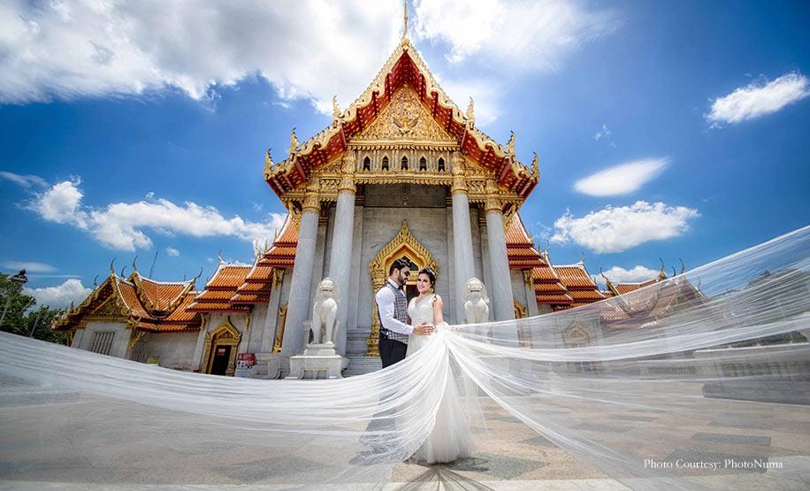Darshana and Pankaj's trendy post-wedding shoot in Thailand