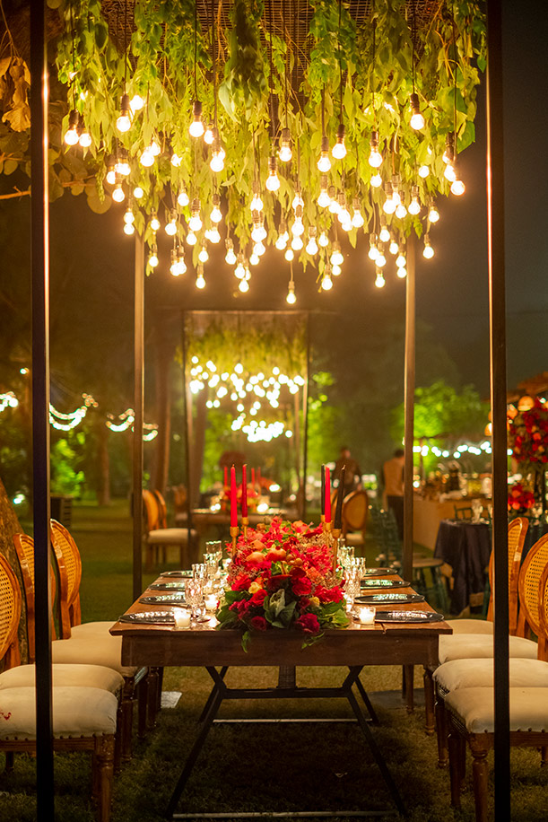 Devika Sakhuja Created A Vintage Masterpiece By Painting This Venue Crimson Red