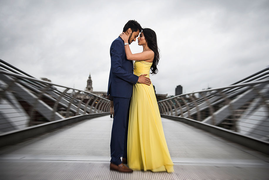 Dolly and Dharin's stylish Pre Wedding Photoshoot