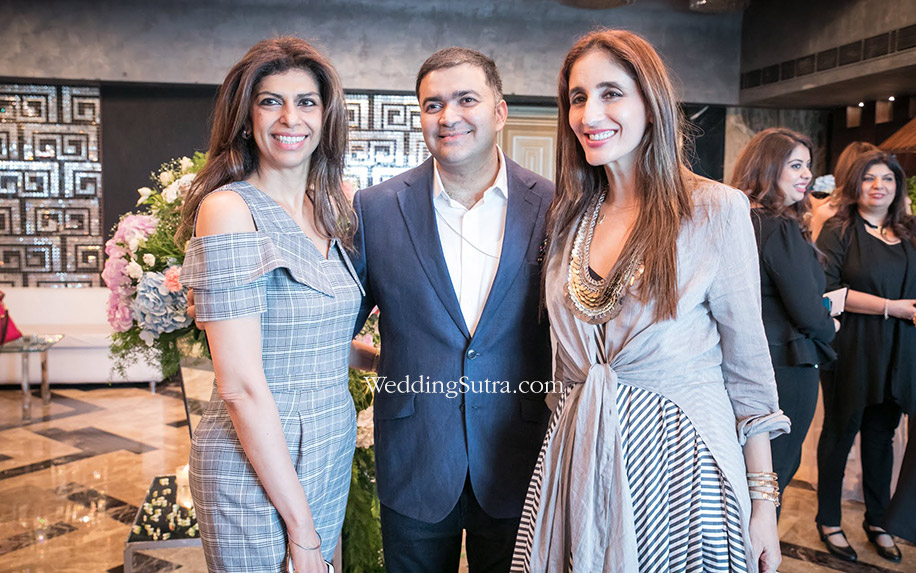 Zeba Kohli, Parthip Thyagarajan and Farah Khan at WeddingSutra Grand Engage 2018