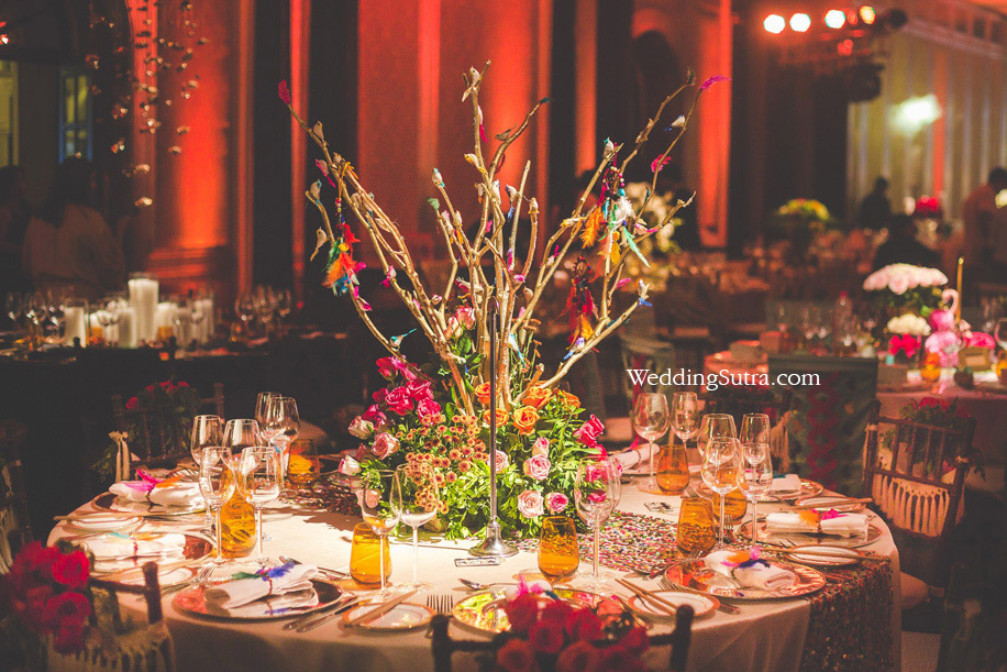 Concept Tables at WeddingSutra Influencer Awards 2018 by Nishka Lulla