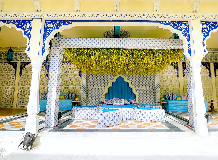 This traditional wedding in Jaipur inspired by the temples of South India was brought to life by Celebrations.
