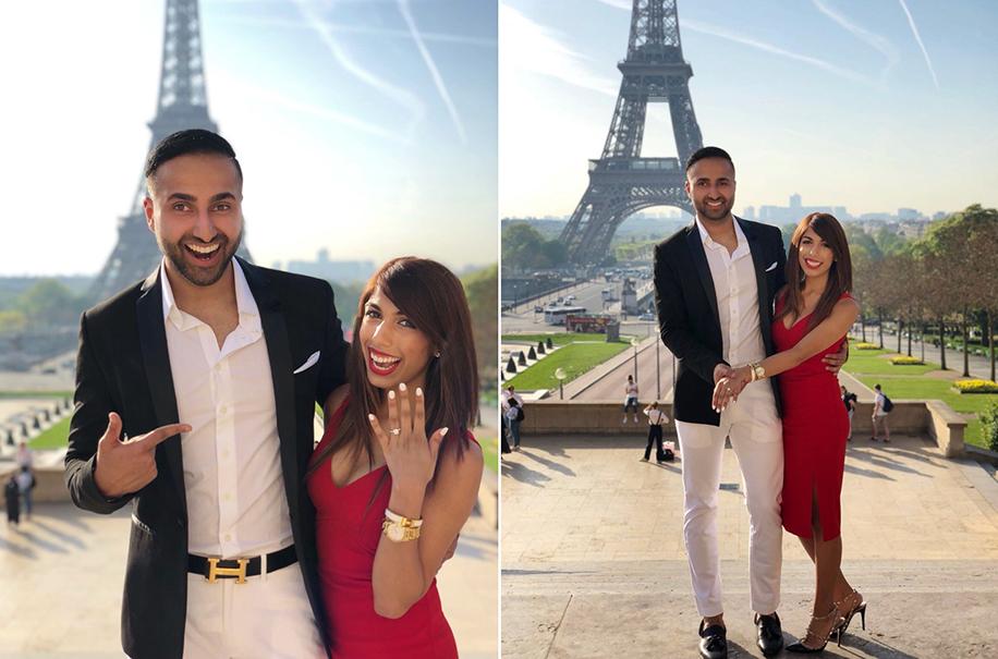 Rohit's Wedding Proposal to Krupali in Paris