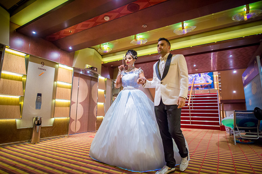 Sana and Adel' cruise wedding