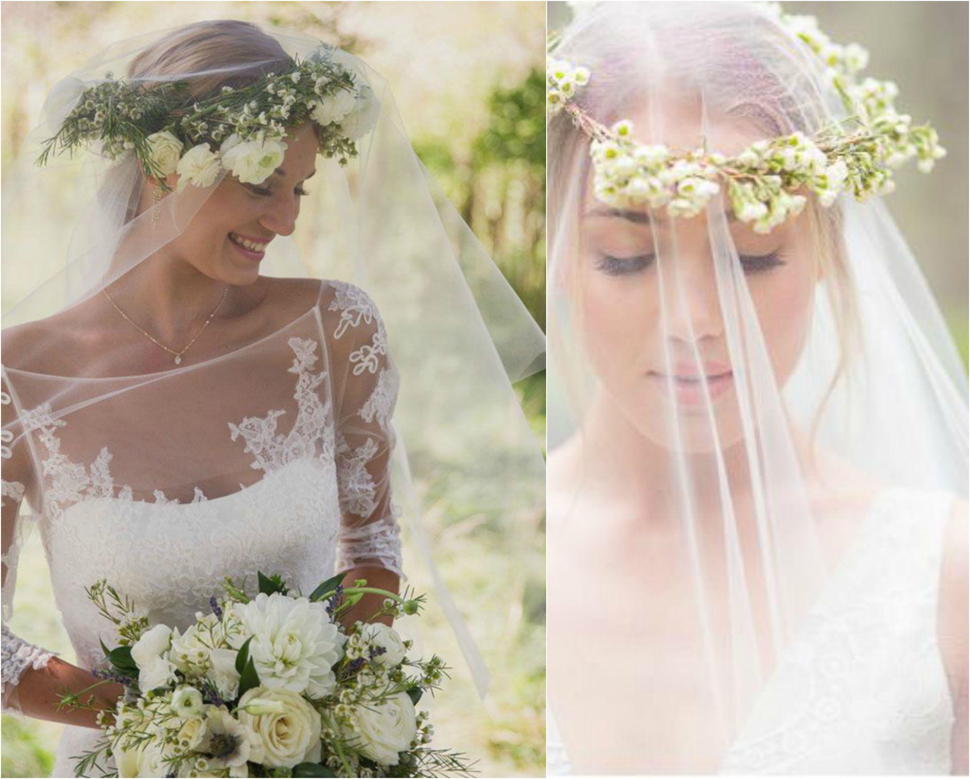 TRENDS  VELO  CORONA DI FIORI  Wedding Therapy