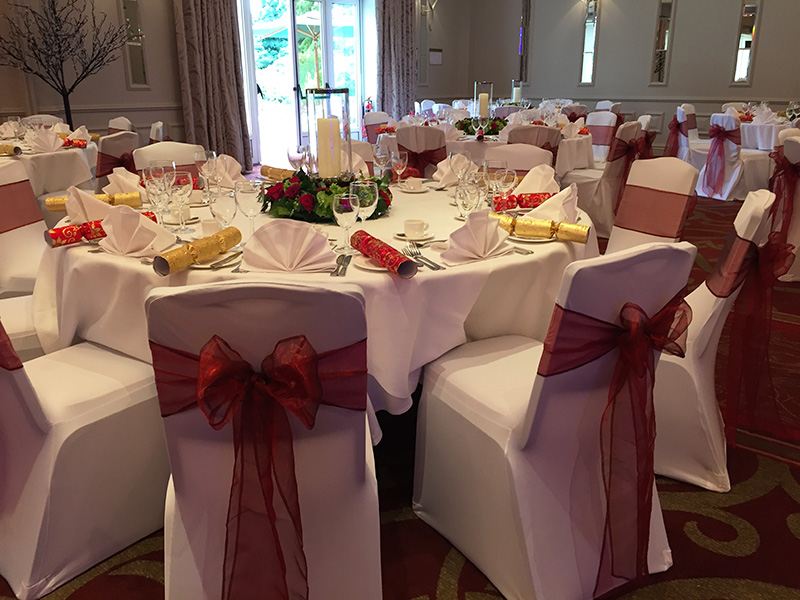 burgundy chair covers wedding outdoor cushion organza venue decorators