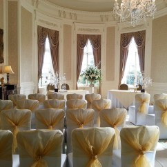 Gold Chair Covers With Black Sash Vibrating Baby Wedding Venue Decorators In White And The Range Of Over 60 Sashes Include A Wide Spectrum Colours Organza Satin Taffeta Lace Hoods Table