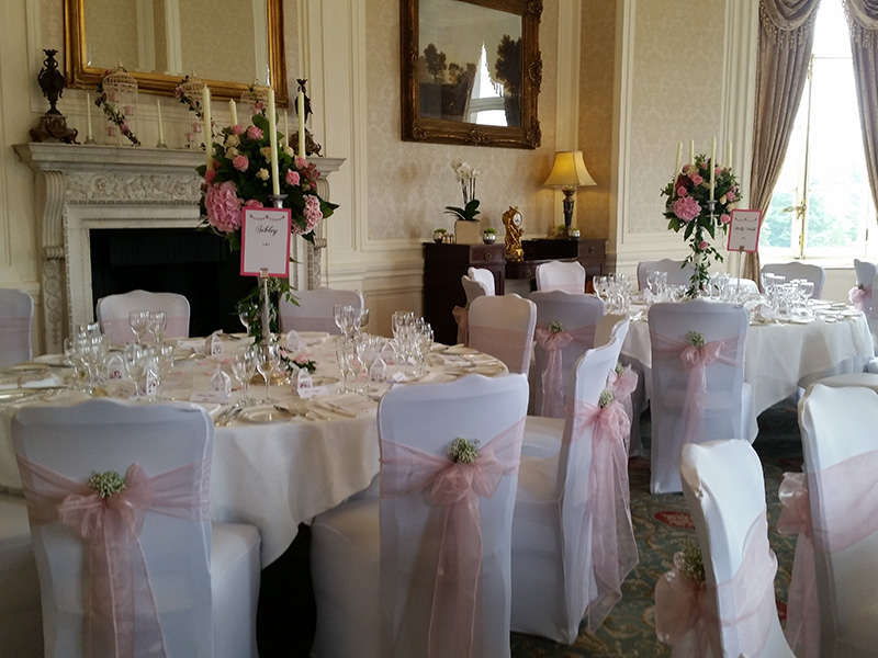 chair covers pink folding chairs at target and flowers wedding venue decorators