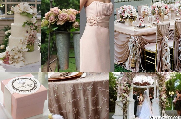 Wedding Colors Pink  Champagne