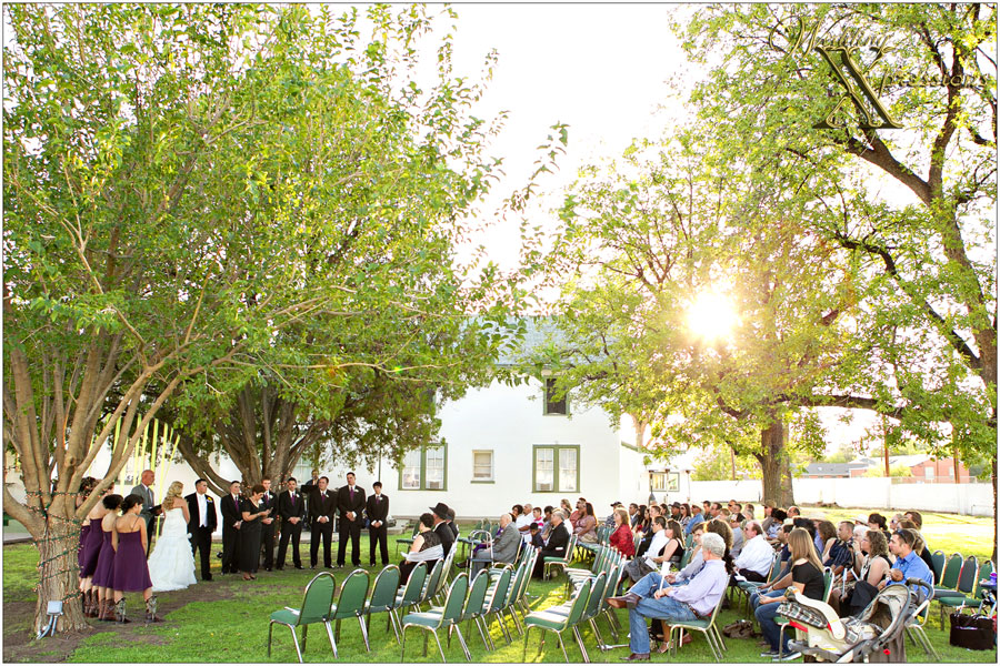 outdoor wedding ceremony photography in Las Cruces New Mexico